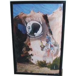 Michael Aguirre original photos, Indian pow wow & MIA art