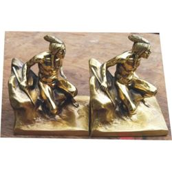 antique brass Indian bookends