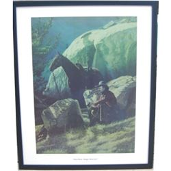 """Tom Horn package:  signed & numbered portrait of Horn by Cody WY artist LD """"Bob Edgar 30X24"""""""