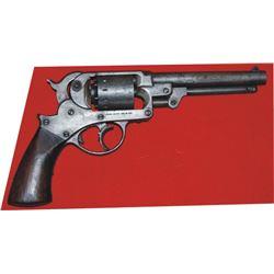Starr 1858 DA army percussion revolver .44 self cocking marked ZS for Zerelda Samuels, Jessie James'