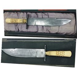George Miller 101 Ranch ivory handle Sheffield bowie knife
