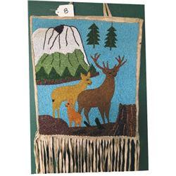 Warm Springs pictorial beaded bag circa 50-60's