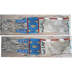 "circa 1900 Cheyenne pipe bag, 15"" beaded both sides"