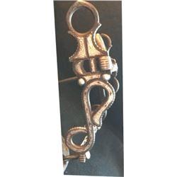 Edwardo Grajalva silver inlaid snake pattern bit
