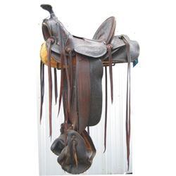 1890's LD Stone tooled loop saddle