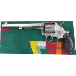 "Colt 1878 DA 7 1/2"" barrel .45 nickel plated #4258"