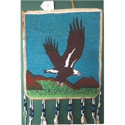 eagle beaded pictorial bag,