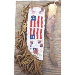 Lakota beaded scabbard & old knife