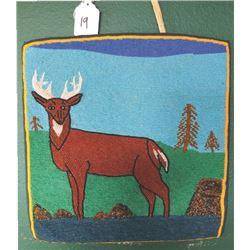 Warm Springs pictorial bag, buck deer