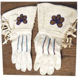 Sioux beaded gauntlets