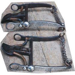 early unmarked Gtuierrez silver overlaid spade