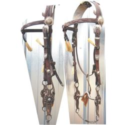 silver & hair mounted headstall