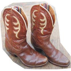 nice 40's inlaid kids boots