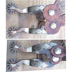 LJ Church double mounted lady leg spurs