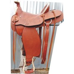 Longhorn saddle, was in a western store in AZ, starting in 1990's