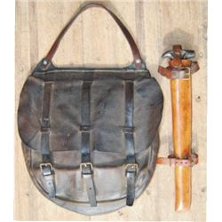US dispatch bag & picket pin with original leather case