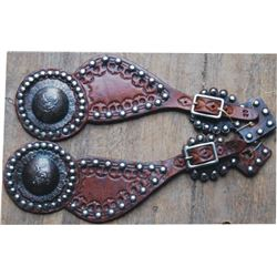 spur straps with bucking horse conchos