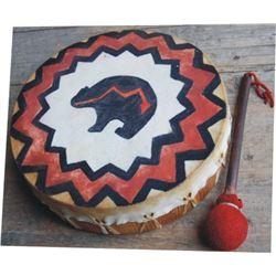 modern Indian rawhide drum