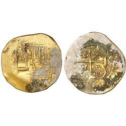 Mexico City, Mexico, cob 8 escudos, Philip V, assayer J, mintmark oXM, style of 1711-12, coral-encru
