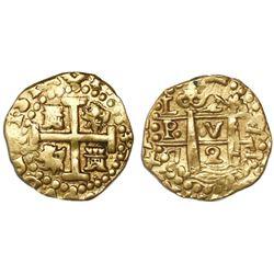 Lima, Peru, cob 2 escudos, 1720M.