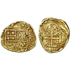 Cartagena, Colombia, cob 2 escudos, Philip IV, assayer E below mintmark C to right (style of 1633).