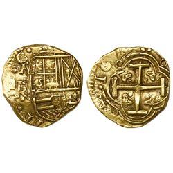 Bogota, Colombia, cob 2 escudos, 1676, assayer not visible, mintmark NR to left, very rare, ex-Lasse