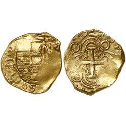 Bogota, Colombia, cob 2 escudos, (1)710/09, rare, from the 1715 Fleet.