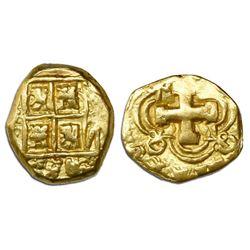 Bogota, Colombia, cob 2 escudos, Philip V, assayer not visible (ca. 1740).