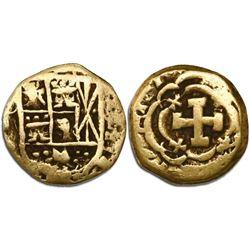 Bogota, Colombia, cob 1 escudo, Philip V, no assayer.