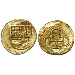 Seville, Spain, cob 2 escudos, Philip III, assayer B below mintmark S to left.