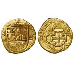 Seville, Spain, cob 2 escudos, Philip III, assayer B below mintmark S to left.