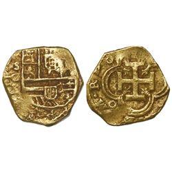 Seville, Spain, cob 2 escudos, Philip III, assayer G.
