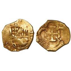 Seville, Spain, cob 2 escudos, Philip III, assayer D.
