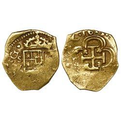 Seville, Spain, cob 1 escudo, 1615V.