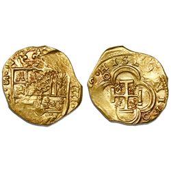 Seville, Spain, cob 4 escudos, (163)0R, very rare.