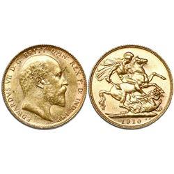 Australia, sovereign, 1910, Perth mint.