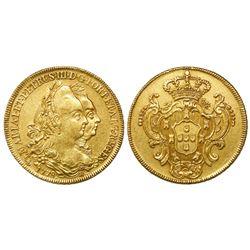 Brazil (Rio mint), 6400 reis, Maria I and Pedro III, 1778-R.