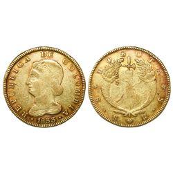 Bogota, Colombia, 8 escudos, 1833RS.