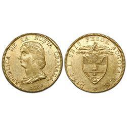 Bogota, Colombia, 16 pesos, 1839RS.