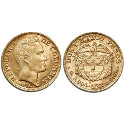 Medellin, Colombia, 2-1/2 pesos, 1920/19-A.
