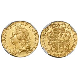Great Britain (London, England), 1/2 guinea, George II, 1759, from the Auguste (1761), encapsulated