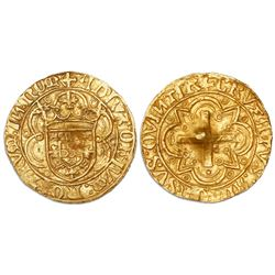 Lisbon, Portugal, cruzado, Afonso V (1438-81, struck 1457-81), legends ADIVTORIVM … NOM / CRVZATVS …