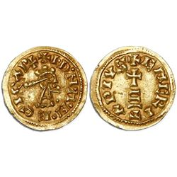 Visigoths (Spain), Emerita mint, tremissis, Egica (687-702).