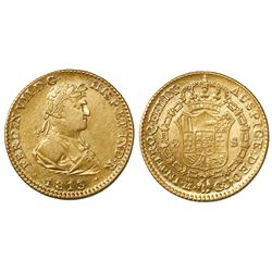 Madrid, Spain, bust 2 escudos, Ferdinand VII, 1813GJ.