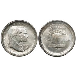 USA, half dollar commemorative, 1926, American Sesquicentennial, encapsulated NGC MS-63.