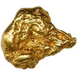 Natural gold nugget from Australia, 10.72 grams.
