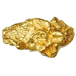Natural gold nugget from Australia, 6.89 grams.