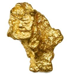 Natural gold nugget from Australia, 5.92 grams.