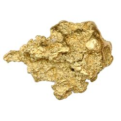Large, irregular gold nugget, 69.84 grams.