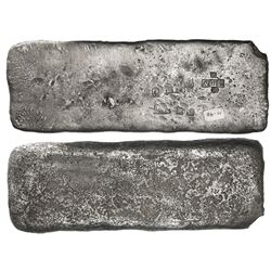 Small  tumbaga  silver bar ( half-brick  shape) #M-40, 2454 grams, stamped with assayer/fineness IVI